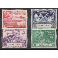Gibraltar - 1949 - Nb 121/124