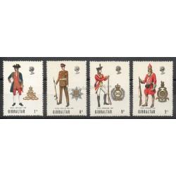 Gibraltar - 1969 - No 224/227 - Histoire militaire