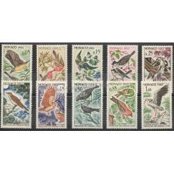 Monaco - 1962 - No 581/590 - Oiseaux