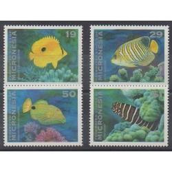 Micronésie - 1993 - No 213/216 - Animaux marins