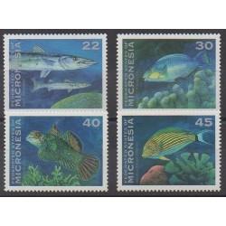Micronésie - 1993 - No 246/249 - Animaux marins