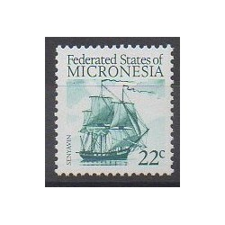Micronesia - 1986 - Nb 34 - Boats