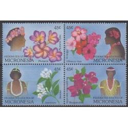 Micronésie - 1989 - No 83/86 - Fleurs