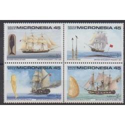 Micronésie - 1990 - No 137/140 - Navigation - Philatélie