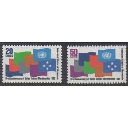 Micronésie - 1992 - No 202/203 - Nations unies