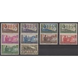 Afrique Equatoriale Française - 1940 - No 92/101 - Neufs avec charnière