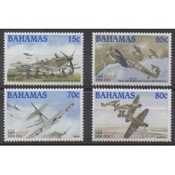 Bahamas - 2000 - No 1037/1040 - Aviation - Seconde Guerre Mondiale - Philatélie