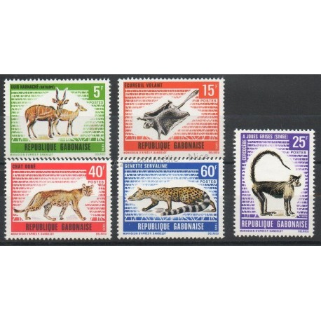 Gabon - 1970 - No 261/265 - Animaux