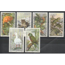 Jersey - 1988 - Nb 308/313 - Birds