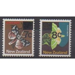 New Zealand - 1977 - Nb 689/690 - Insects