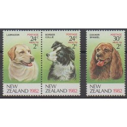 New Zealand - 1982 - Nb 819/821 - Dogs
