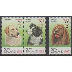 Nouvelle-Zélande - 1982 - No 819/821 - Chiens