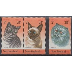 New Zealand - 1983 - Nb 848/850 - Cats