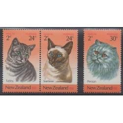Nouvelle-Zélande - 1983 - No 848/850 - Chats