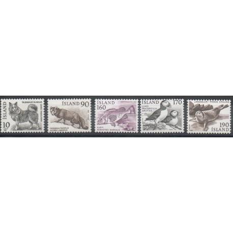 Islande - 1980 - No 503/504 - 511/513 - Animaux