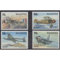 Bahamas - 1993 - Nb 787/790 - Planes - Military history