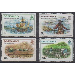 Bahamas - 1985 - Nb 586/589 - Christophe Colomb - Various Historics Themes