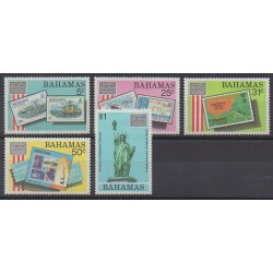 Bahamas - 1986 - Nb 595/599 - Stamps on stamps