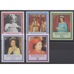 Bahamas - 1986 - Nb 590/594 - Royalty