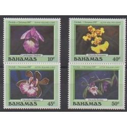 Bahamas - 1987 - Nb 651/654 - Orchids