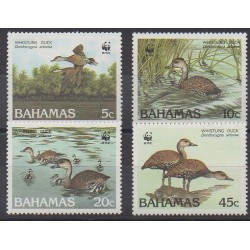 Bahamas - 1988 - Nb 659/662 - Birds - Endangered species - WWF