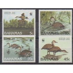 Bahamas - 1988 - No 659/662 - Oiseaux - Espèces menacées - WWF