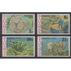 Bahamas - 1977 - No 404/407 - Animaux marins