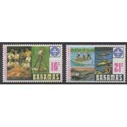 Bahamas - 1977 - Nb 408/409 - Scouts