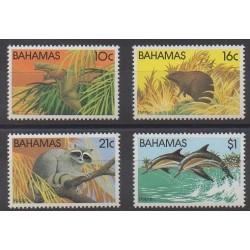 Bahamas - 1982 - No 514/517 - Animaux - Mammifères