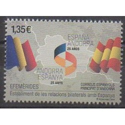 Andorre espagnol - 2018 - No 458 - Histoire - Drapeaux