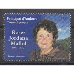 Spanish Andorra - 2018 - Nb 456 - Celebrities