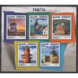 Guinea-Bissau - 2017 - Nb 7313/7317 - Lighthouses