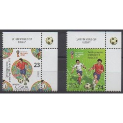 Serbie - 2018 - No 793/794 - Coupe du monde de football