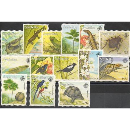 Seychelles - 1993 - No 756/769 - Oiseaux