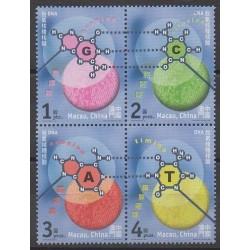 Macao - 2001 - No 1069/1072 - Sciences et Techniques