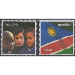 Namibie - 2000 - No 911/912 - Histoire - Drapeaux