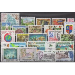 New Caledonia - Complete year - 1988 - Nb 549/567 - PA257/PA260 - BF8