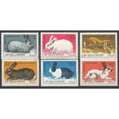 Bulgarie - 1986 - No 2993/2998 - Animaux