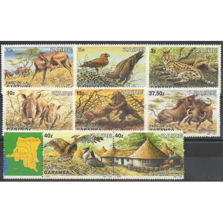 Zaire - 1984 - Nb 1146/1153 - Animals