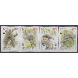 Macao - 1995 - No 758/761 - Reptiles - Espèces menacées - WWF