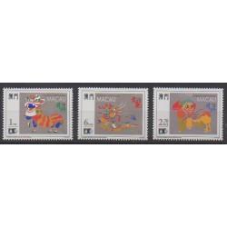 Macao - 1992 - No 663/665 - Folklore