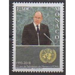 Monaco - 2018 - No 3141 - Nations unies