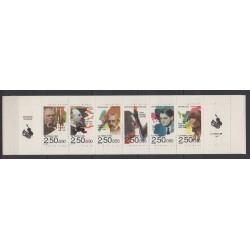 France - Carnets - Personnages célèbres - 1992 - No BC2753 - Musique