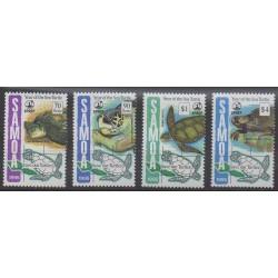 Samoa - 1995 - Nb 818/821 - Reptils