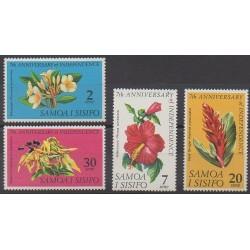 Samoa - 1969 - No 241/244 - Histoire - Fleurs