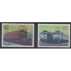 Japon - 1990 - No 1863/1864 - Chemins de fer