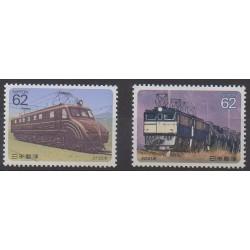 Japon - 1990 - No 1848/1849 - Chemins de fer