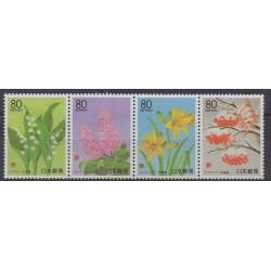 Japon - 1999 - No 2559/2562 - Fleurs