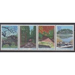 Japon - 2001 - No 2984/2987 - Parcs et jardins