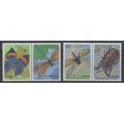 Japon - 1987 - No 1619/1622 - Insectes